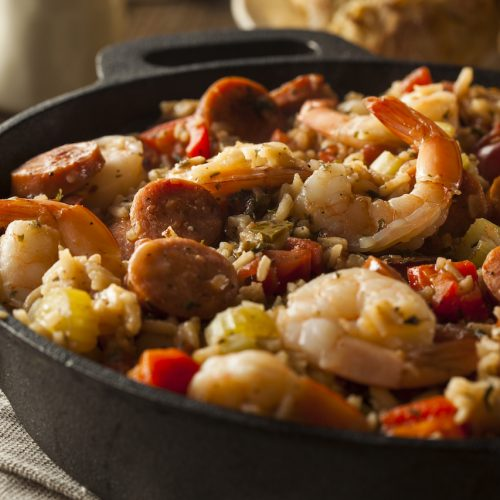 Homemade Jambalaya with Sausage and Shrimp